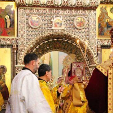 В неделю по Воздвижении Митрополит Лев совершил Божественную литургию и хиротонию во иерея в Иверском монастыре