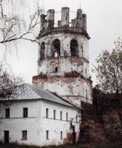 Колокольня. Западный фасад. Фото 1989 г.