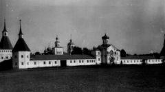Вид монастыря с запада. Фото до 1917 года