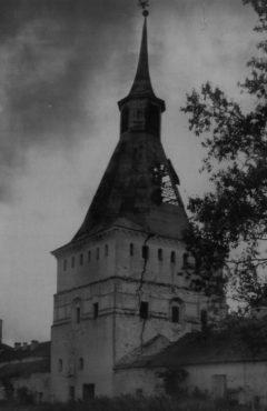 Михайловская (Патриаршая-Никоновская) башня. Вид с юго-запада. Фото 1948 года