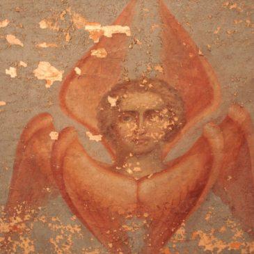 Реставрация фресок в Иверском монастыре