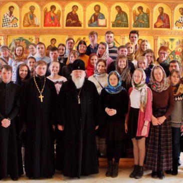В Неделю святых отец Митрополит Лев совершил Литургию в Иверском монастыре