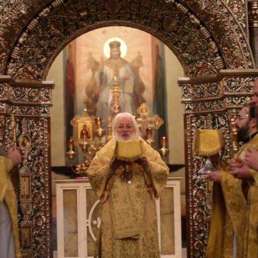 В день памяти прпп. Кирилла и Марии Радонежских митрополит Лев совершил Божественную литургию в Иверском монастыре