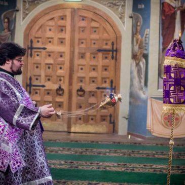 В субботу второй седмицы Великого поста митрополит Лев совершил Божественную литургию в Иверском монастыре