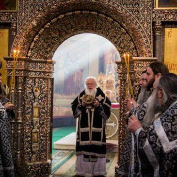 В день 45-летия монашеского пострига митрополит Лев совершил Литургию в Иверском монастыре
