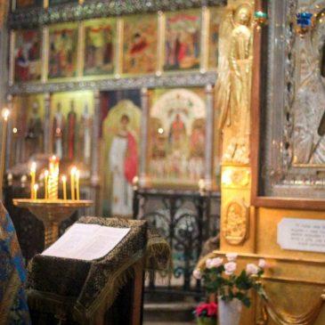 В неделю прп. Марии Египетской иеромонах Антоний совершил Божественную Литургию
