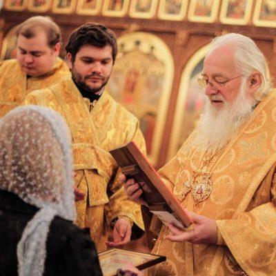 В день 29-летия архиерейской хиротонии митрополит Лев совершил Литургию в храме Духовного училища