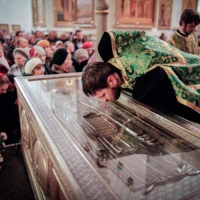 Архиереи митрополии совершили праздничную литургию в Хутынском монастыре