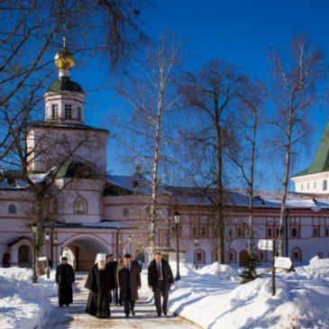 В Иверском монастыре прошла встреча митрополита Льва с врио губернатора Новгородской области