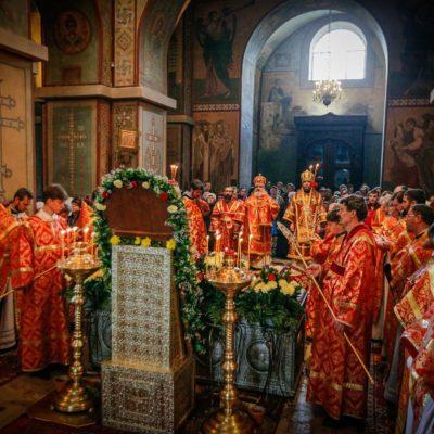 В Софийском соборе почтили память святителя Никиты