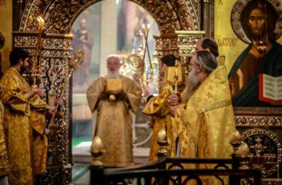Митрополит Лев совершил Богослужение в Иверском монастыре