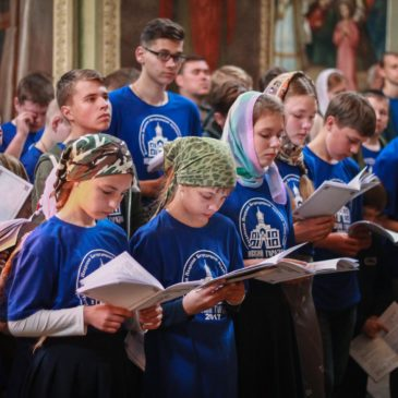 Открытие военно-патриотического слёта приходов Новгородской епархии