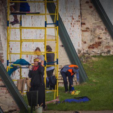Студенты-реставраторы провели практические занятия в Иверском монастыре