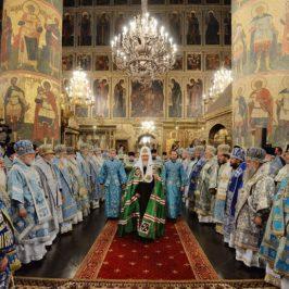 В праздник Успения Божией Матери митрополит Лев сослужил Патриарху Кириллу