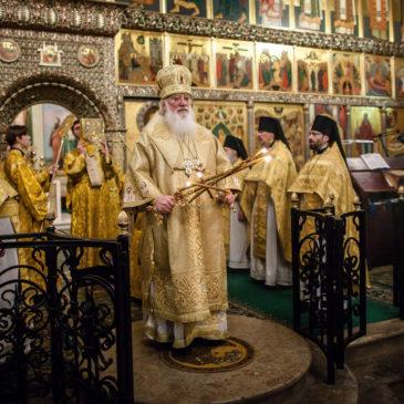 Митрополит Лев совершил Литургию в первый день Нового 2018 года