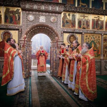 Митрополит Лев совершил богослужение в день отдания Пасхи